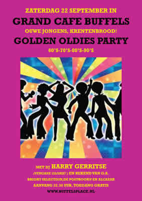 Afbeelding bij agendaitem: 'Golden oldies party Grand Café Buffels'