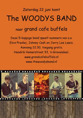 Afbeelding bij agendaitem: 'The Woodys Band in Grand Café Buffels'