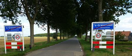 Einde bebouwde kom 's-Gravendeel Molendijk