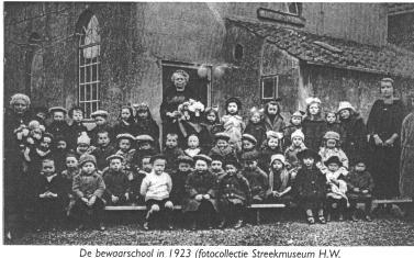 De bewaarschool in 's-Gravendeel in 1923