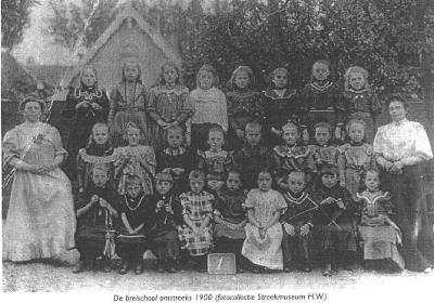 Breischool 's-Gravendeel omstreeks 1900