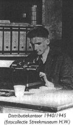 Distributiekantoor in 's-Gravendeel tijdens de Tweede Wereldoorlog