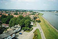 Uitzicht naar het noorden vanaf de watertoren 's-Gravendeel