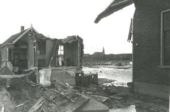 Watersnood 1953 Molendijk in 's-Gravendeel