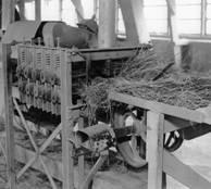 Foto begin vlasturbine, brakelgedeelte