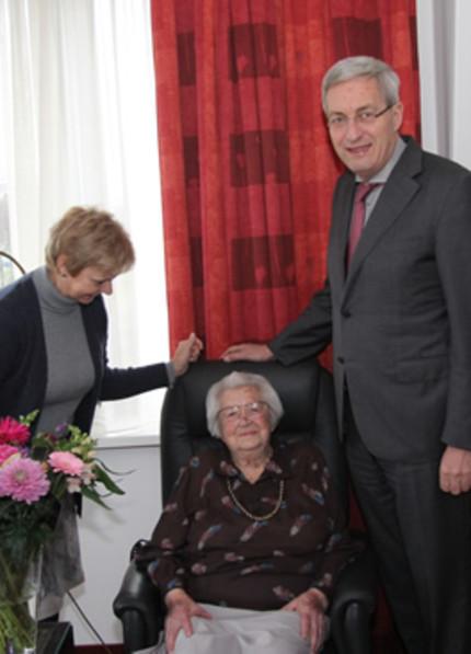 Foto bij 'Mevrouw Van Zanen viert 101e verjaardag'